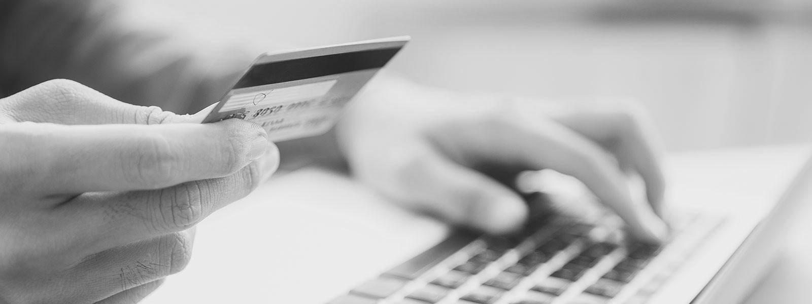 Paying by credit card through laptop